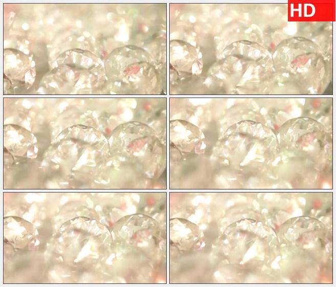 zy1387闪烁的钻石闪光珠宝高清实拍视频素材