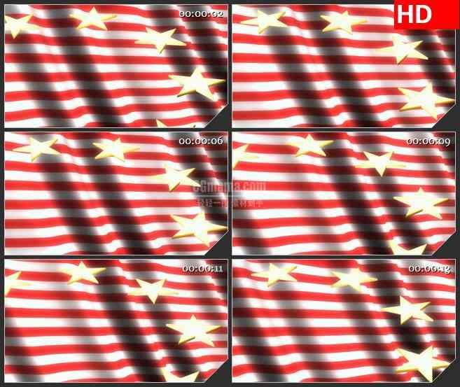 BG2786闪亮星星旋转旗帜阴影飘动高清led大屏视频背景素材