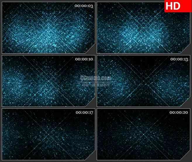 BG2787闪烁的蓝色方块高清led大屏视频背景素材
