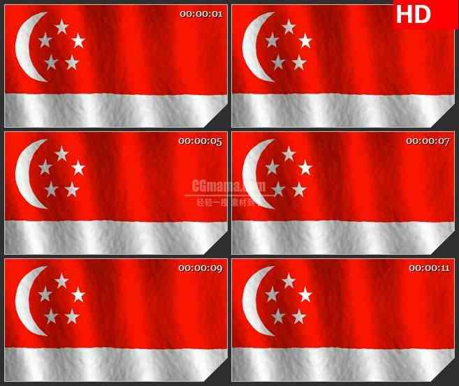 BG2817新加坡国旗飘动高清led大屏视频背景素材