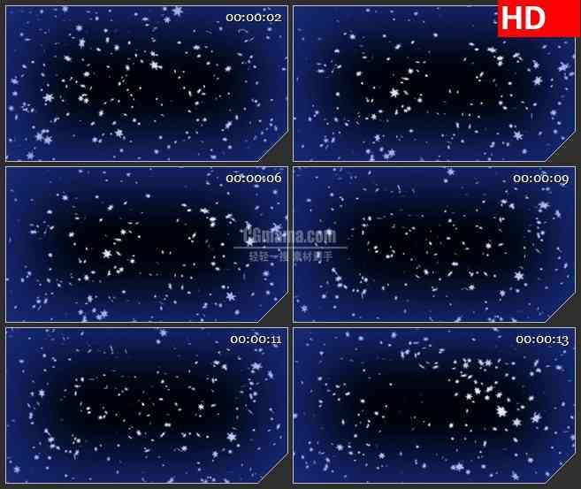 BG2827雪花飘落夜晚深蓝色背景高清led大屏视频背景素材
