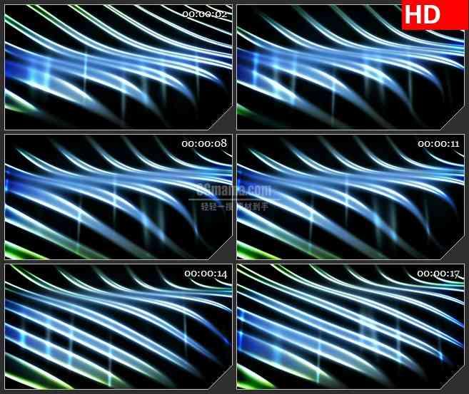 BG2832烟波飘动的光线高清led大屏视频背景素材