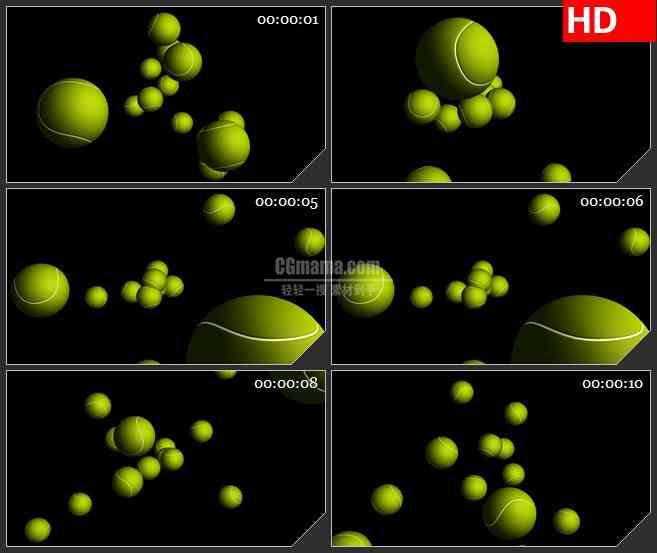 BG2836仰视棒球掉落黑色背景高清led大屏视频背景素材