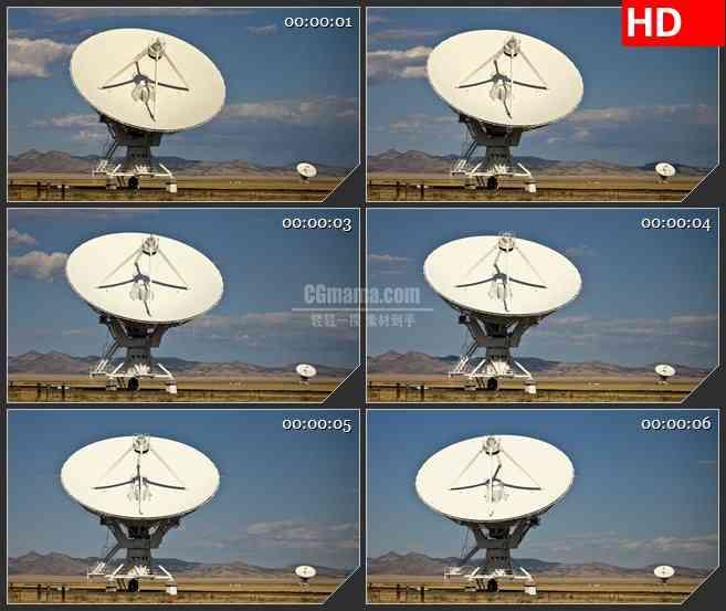 BG2863转动雷达白云浮动高清led大屏视频背景素材