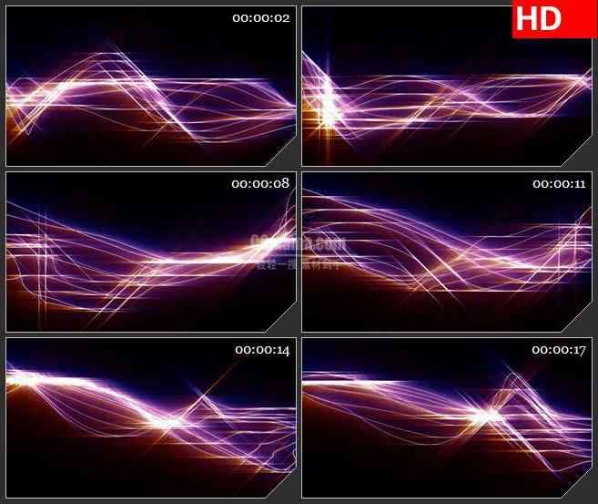 bg2867紫色光线运动线条高清led大屏视频背景素材