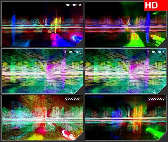 BG2880被干扰的电波 彩色拨号高清led大屏视频背景素材