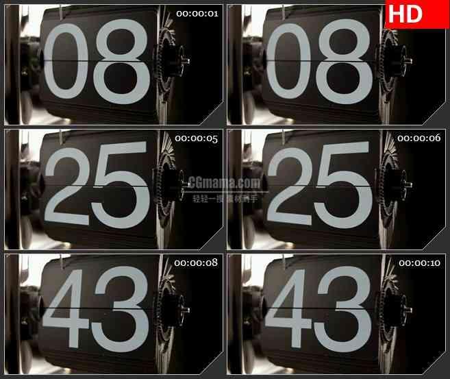 BG2884变换的数字牌 高清led大屏视频背景素材