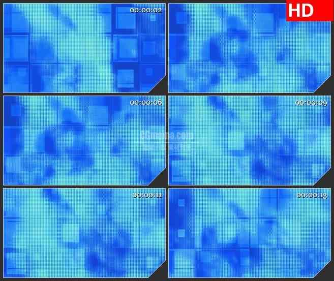 BG2887不规则蓝色像素快运动高清led大屏视频背景素材