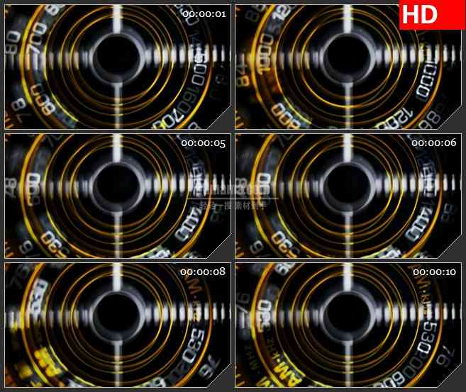 BG2906调节收音机的刻度盘高清led大屏视频背景素材