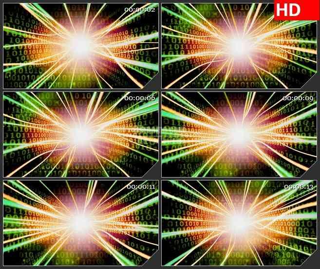 BG2908动感科技之光 不规则放射光线高清led大屏视频背景素材