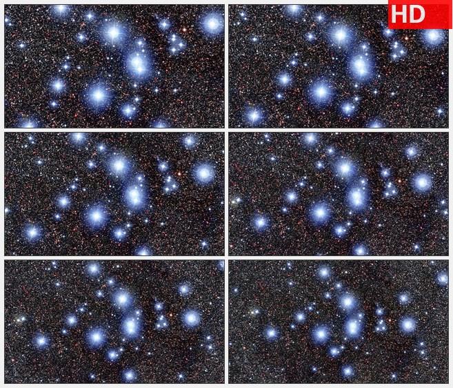 ZY1472唯美宇宙星空闪动的星星3K高清led大屏视频背景素材