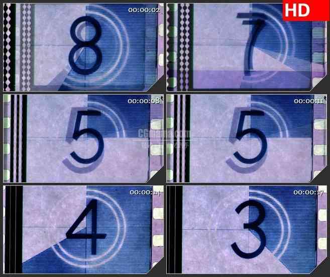 BG2910动画电影卷轴倒计时高清led大屏视频背景素材