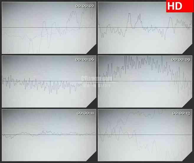 BG2923疯狂跳动的波浪线 音频线波动图高清led大屏视频背景素材