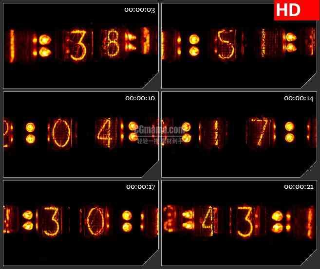 BG2934黑暗中的灯火 计数器高清led大屏视频背景素材
