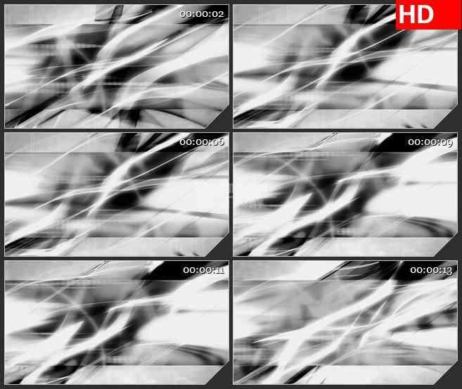 BG2942黑与白 不规则运动的光束高清led大屏视频背景素材