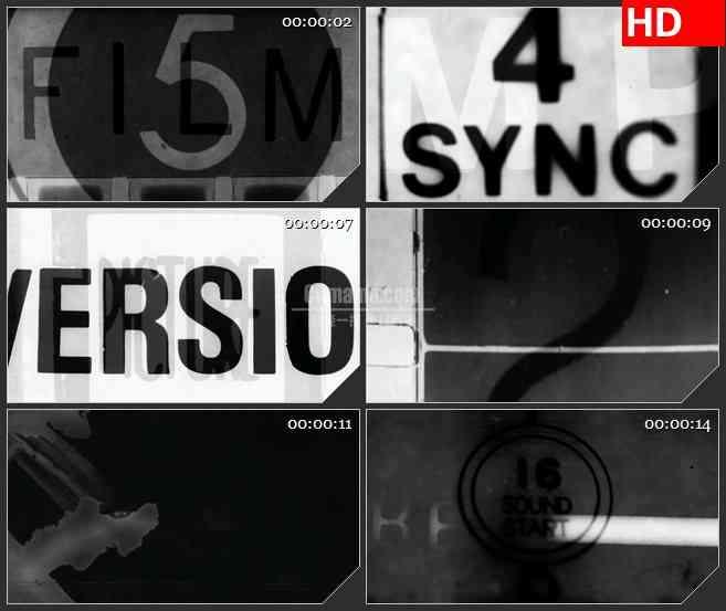 BG2943黑与白 电影蒙太奇 高清led大屏视频背景素材