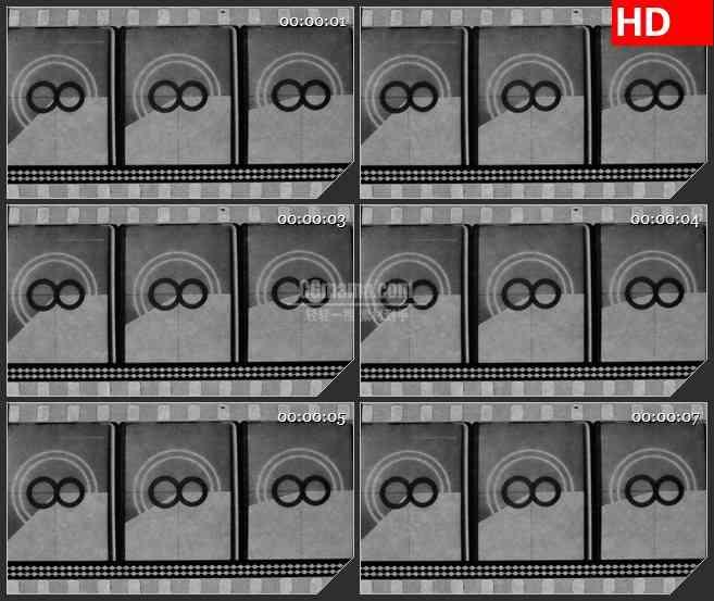 BG2945黑与白 胶片放映 倒计时高清led大屏视频背景素材