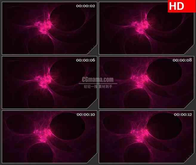 BG2950红色网络等离子体 抽象组织纤维高清led大屏视频背景素材
