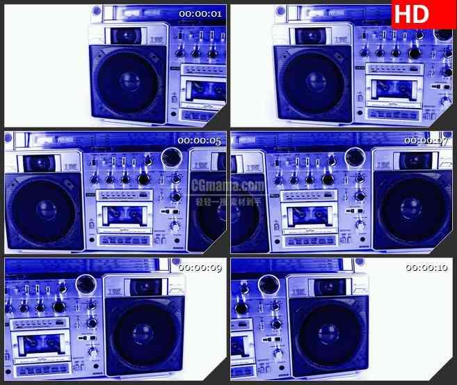 BG2953怀旧岁月 老式录音机高清led大屏视频背景素材