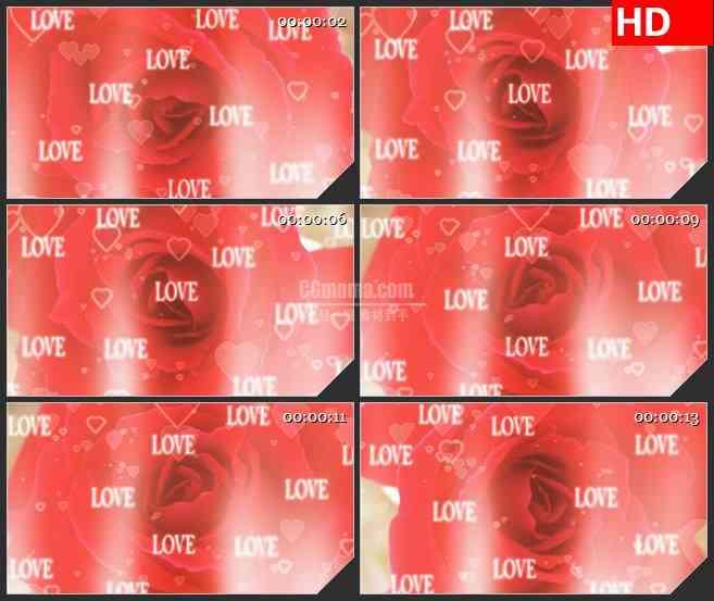 BG2959婚庆类 爱的玫瑰高清led大屏视频背景素材