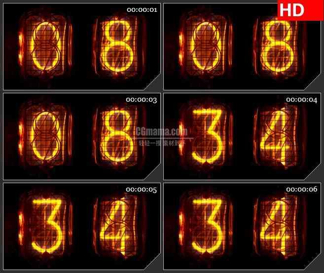 BG2962计数器 跳动的数字高清led大屏视频背景素材