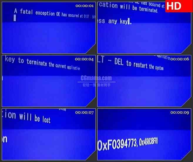 BG2974快速输入中的蓝色电脑屏幕高清led大屏视频背景素材