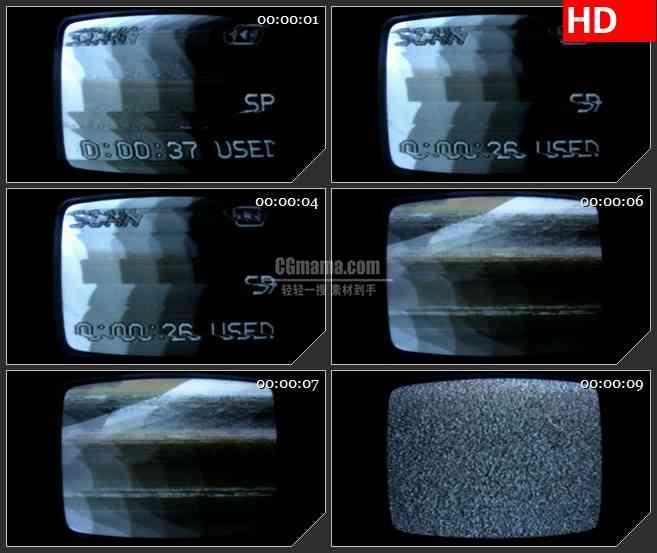 BG2984老式电视机 无信号画面高清led大屏视频背景素材