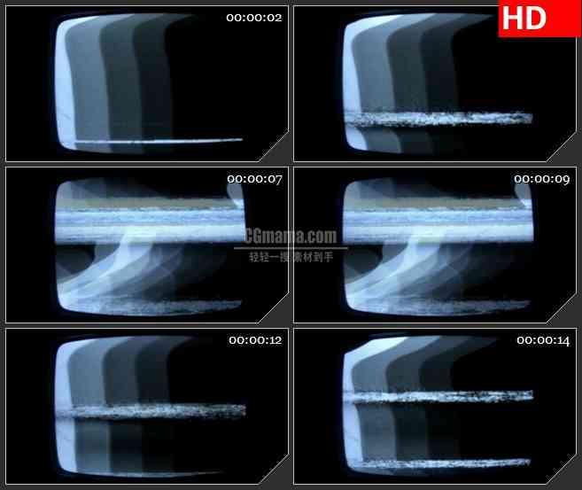 BG2985老式黑白电视机 无信号屏幕高清led大屏视频背景素材