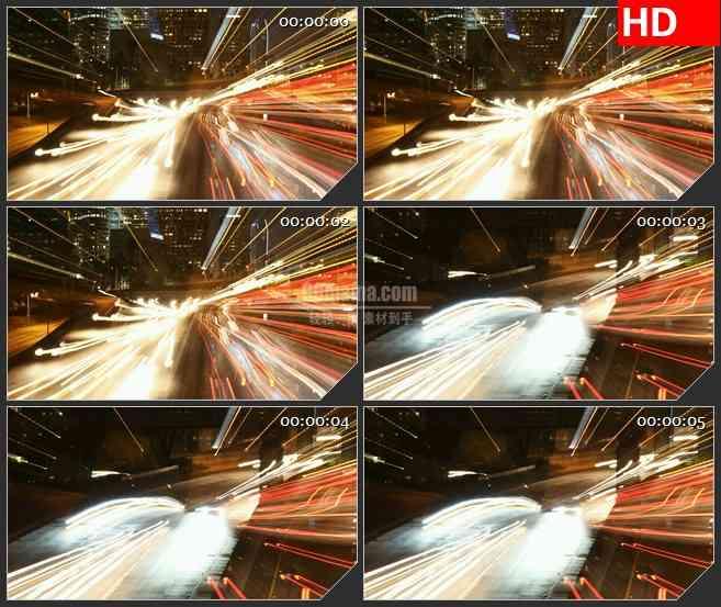 BG3000摩登城市车水马龙的夜景 高清led大屏视频背景素材