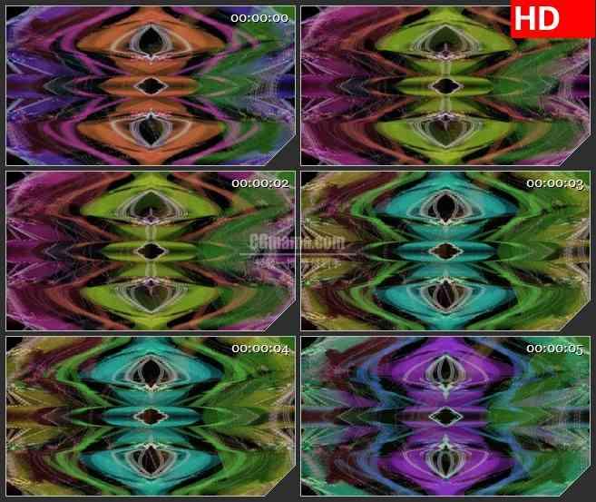 BG3001扭曲的彩色画面高清led大屏视频背景素材