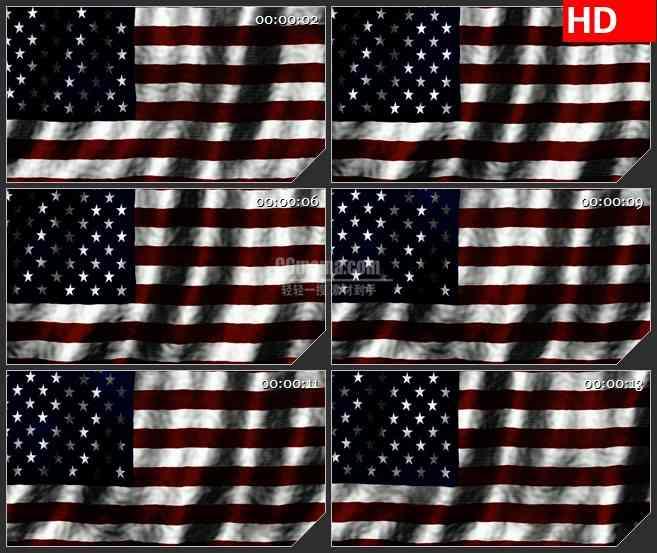 BG3005轻轻浮动的美国国旗高清led大屏视频背景素材