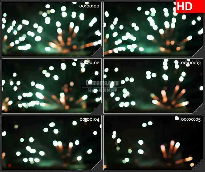 BG3010燃放的焰火 高清led大屏视频背景素材