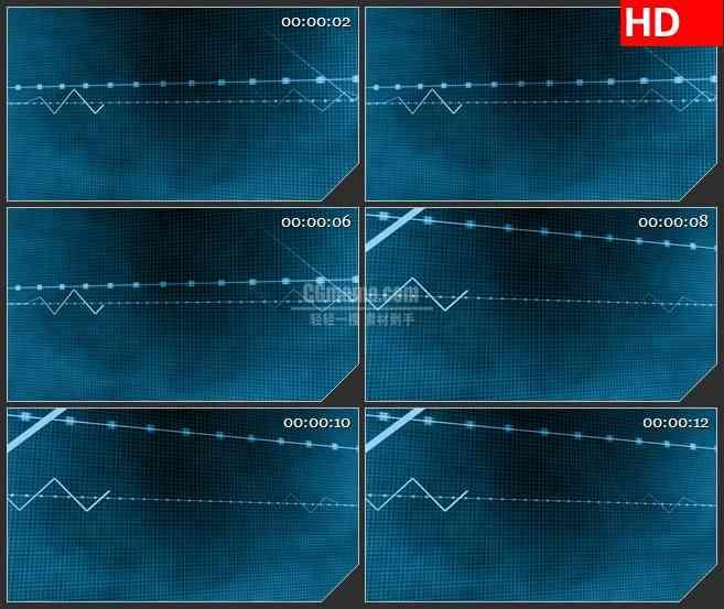 BG3011三维波脉冲 跳动的无线波高清led大屏视频背景素材