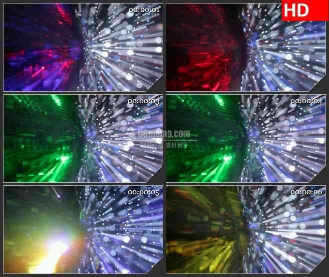 BG3020闪烁的迪斯科舞厅灯光高清led大屏视频背景素材