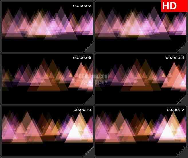BG3025闪烁的三角形运动背景高清led大屏视频背景素材