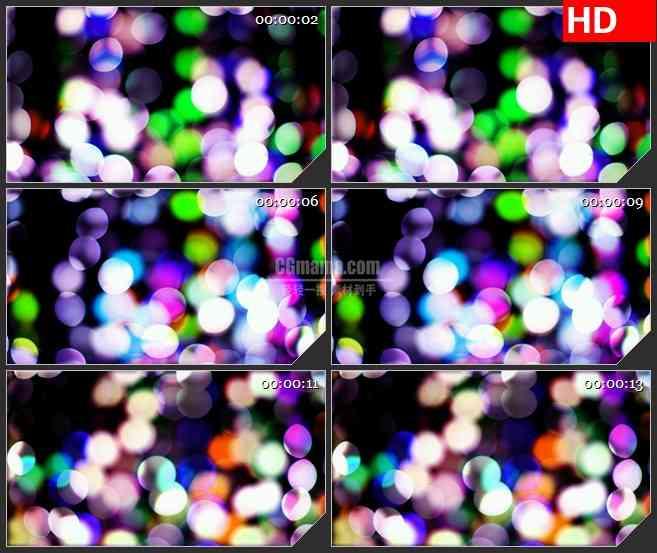 BG3026闪烁的五彩灯光高清led大屏视频背景素材