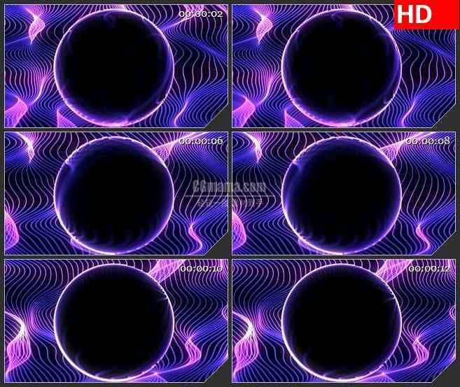 BG3032神秘的黑洞 不规则紫色光网高清led大屏视频背景素材