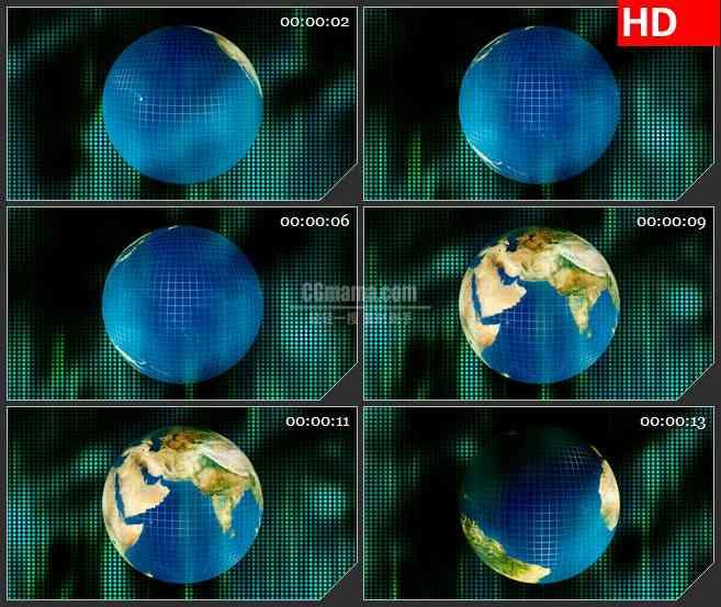 BG3034数码科技 旋转的地球高清led大屏视频背景素材