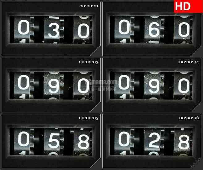 BG3037提升计数器高清led大屏视频背景素材