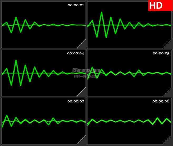 BG3040跳动的声波高清led大屏视频背景素材
