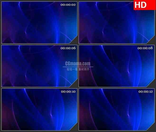 BG3056舞动的蓝色光背景高清led大屏视频背景素材