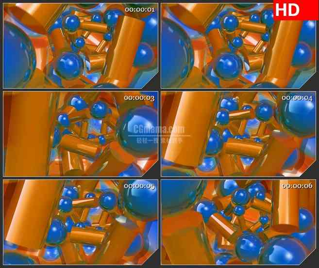 BG3061物理学 原子高清led大屏视频背景素材