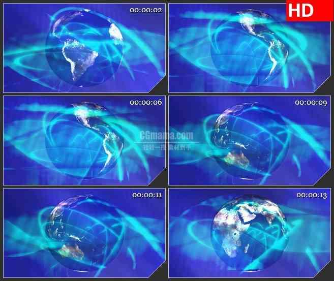 BG3073旋转的地球 蓝色空间高清led大屏视频背景素材