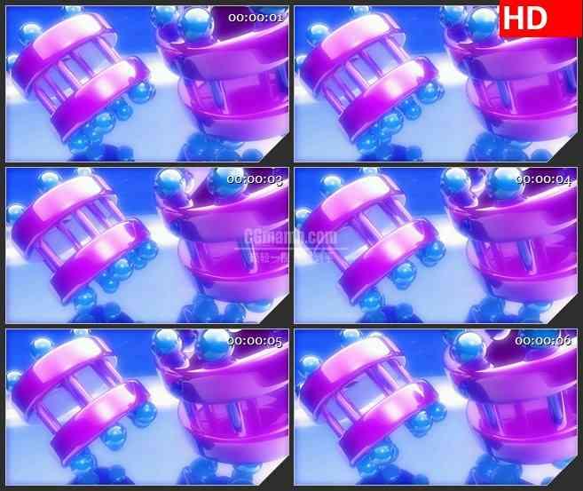 BG3080旋转的球管形体高清led大屏视频背景素材