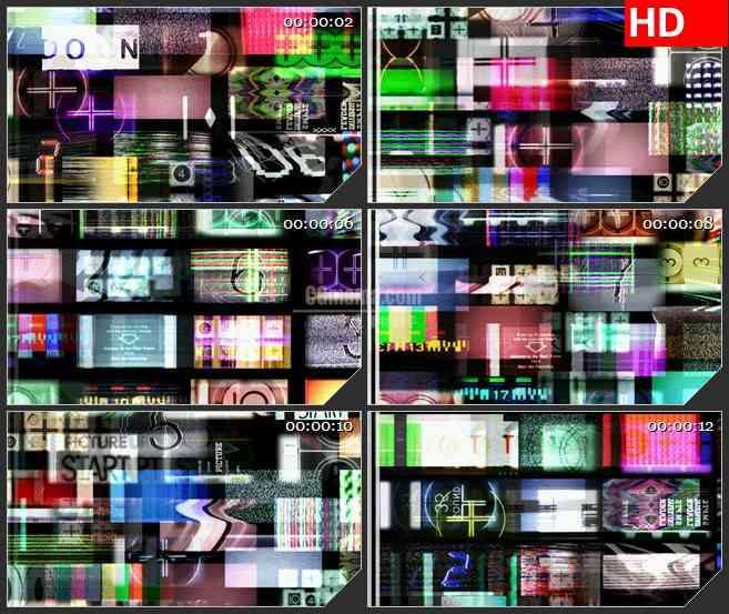 BG3086眼花缭乱的屏幕 混合式电视墙高清led大屏视频背景素材