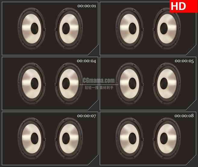 BG3101音乐元素 颤动的音箱高清led大屏视频背景素材