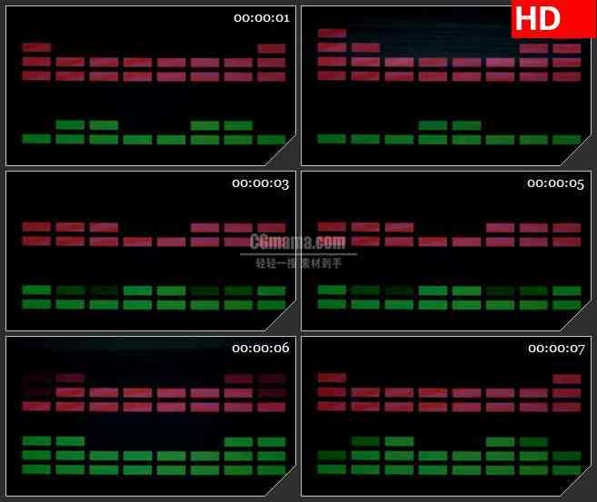 BG3104音乐元素 块均衡器高清led大屏视频背景素材