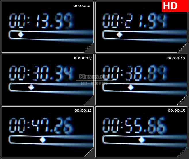 BG3109音乐元素 音频轨道时间码高清led大屏视频背景素材