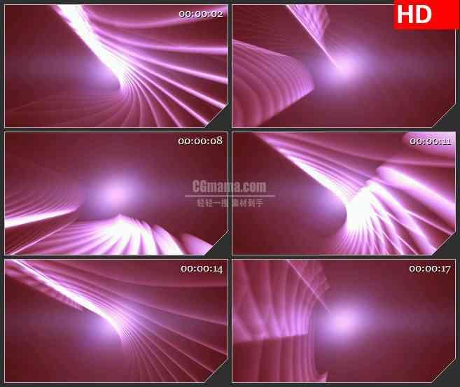 BG3120运动的红色波浪线高清led大屏视频背景素材