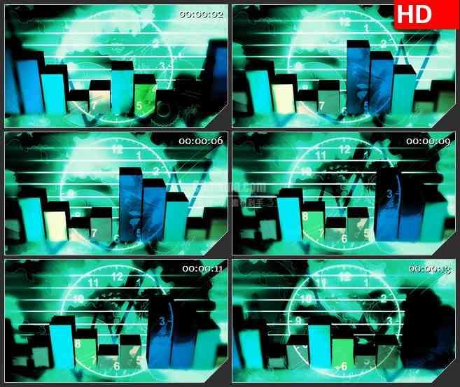 BG3126柱状图分析 直观图表高清led大屏视频背景素材